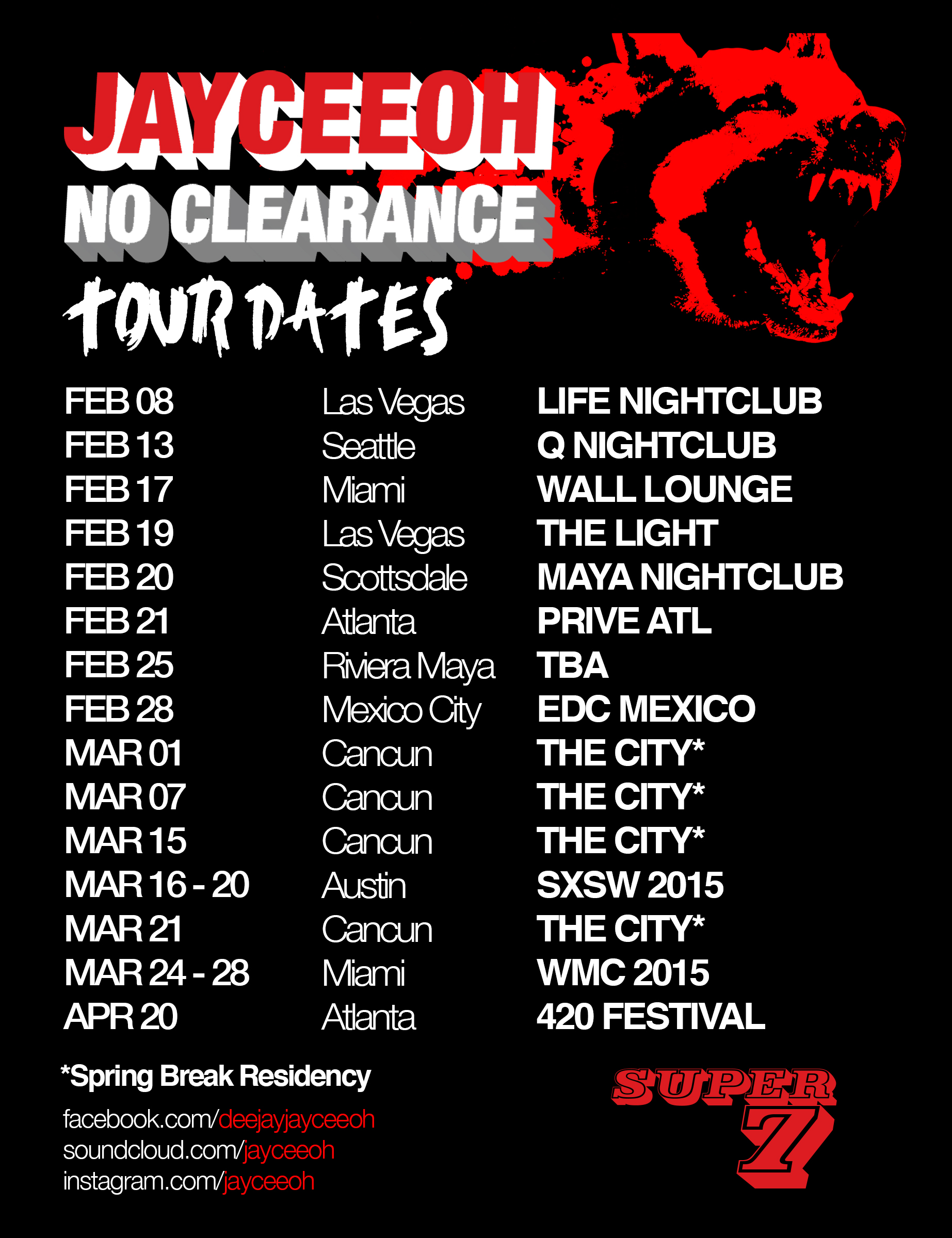 no clearance tour poster 2.10 update